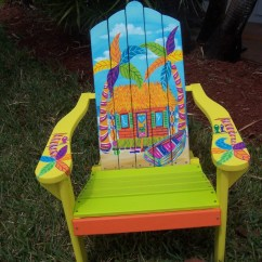 Adirondack Chair Wood Plush Leather Desk Tropical Beach Bungalow Hut Margaritaville Style