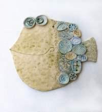 """Items similar to Handmade Ceramic Wall Decor """"The Fish 2 ..."""