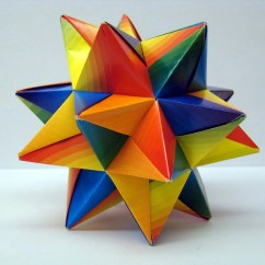 Soccer Ball Modular Origami Diagram Gibson P90 Pickup Wiring Rainbow Star By Origamidelights On Etsy