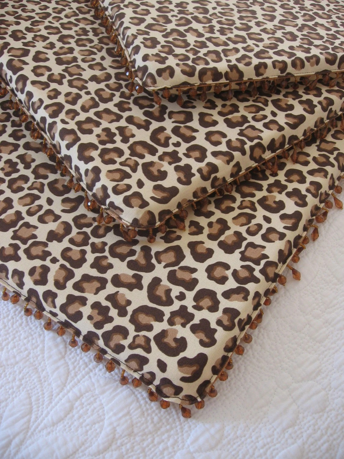 Animal Print Dining Chairs Set Of Four 4 Leopard Print Dining Chair Pads