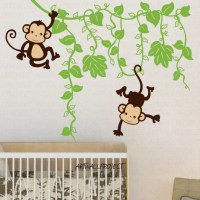 Removable Vinyl Wall Decal Monkey in Jungle A by ...