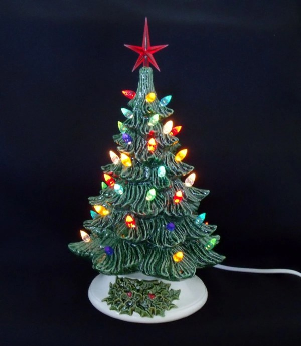 Old Fashioned Ceramic Christmas Tree 11 Inches by
