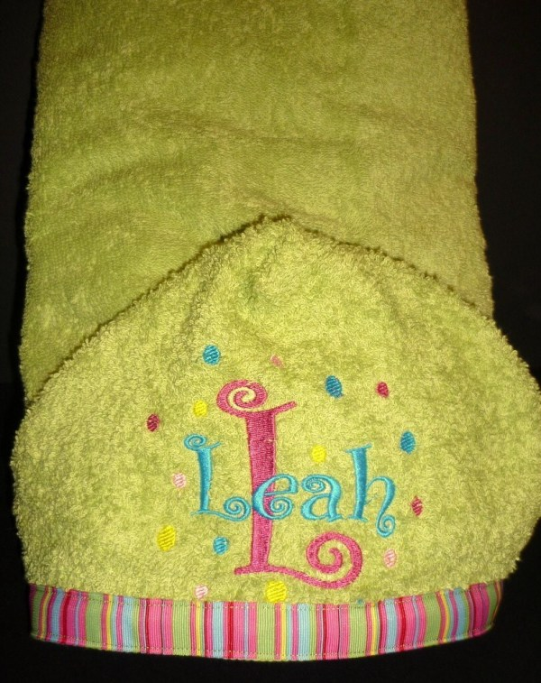 Personalized Kids Hooded Bath Towel