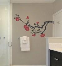 Tree Branch Magnolia New Bathroom Custom Vinyl by ...
