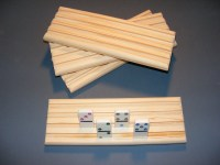 4 Domino Holders Rack Mexican Train Chicken Foot Handmade 4