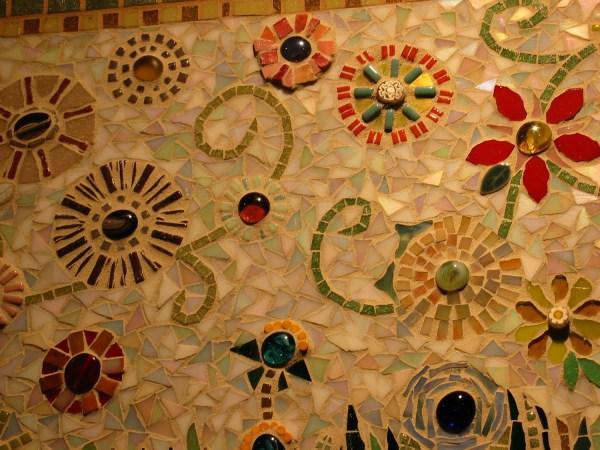 Broken Tile Mosaic Flower