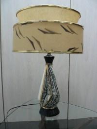 vintage mid century modern table lamp 1950s atomic lamp