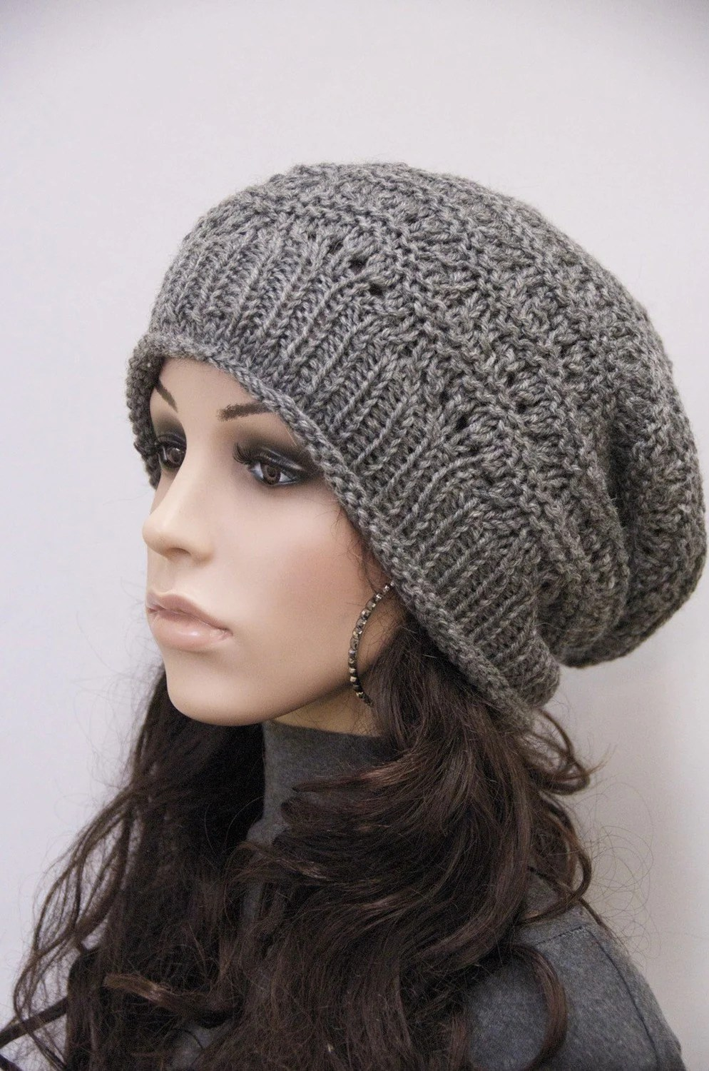 Fine Cable Knit Slouchy Hat Pattern Elaboration - Easy Scarf ...