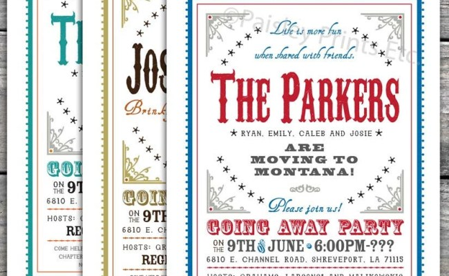Items Similar To Western Chic Farewell Party Invitation