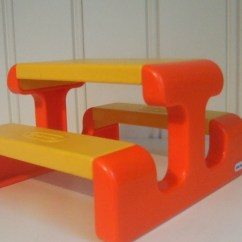 Little Tikes Chairs Office Bucket 7 Pieces Dollhouse Furniture Orange Green Yellow