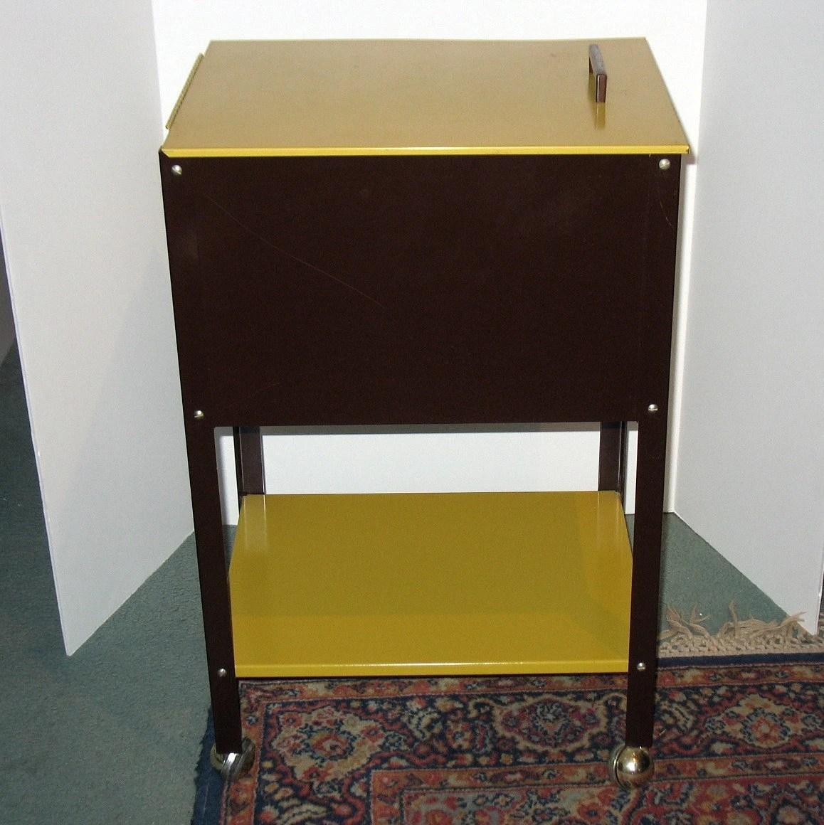 Vintage W P Johnson Rolling File Cabinet Letter Industrial