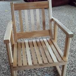 Wooden Childrens Rocking Chair Boat Captain Chairs Child Size Hickory Rocker