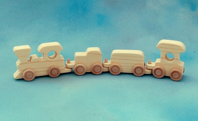 Wood Toy Train Train Set Natural Wood Toy Toy By Nwtoycrafters