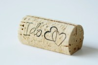 Custom Printed Wine Cork Place Card Holders set by ...