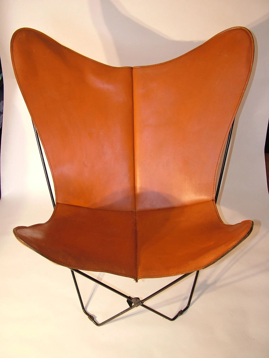 Brown Leather Butterfly Chair 1960 39s Rare Vintage Retro Leather Butterfly Chair Cover