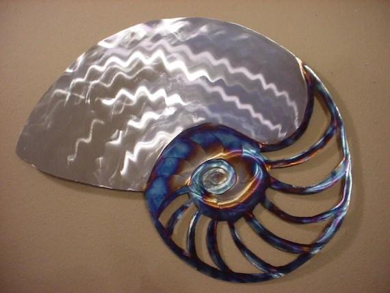 Items Similar To Large Nautilus Sea Shell Metal Ocean