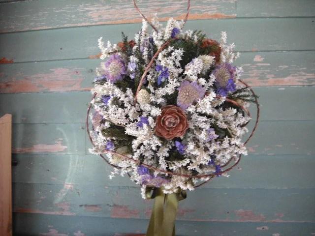 Dried Flower Bridal Bouquet Ball By NHWoodscreations On Etsy