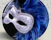 Venetian Carnivale Mardi Gras Carnival Mask Pocket Mirror or Magnet - Buy 2 get 1 FREE - Mask 15 - HappyBugDesigns