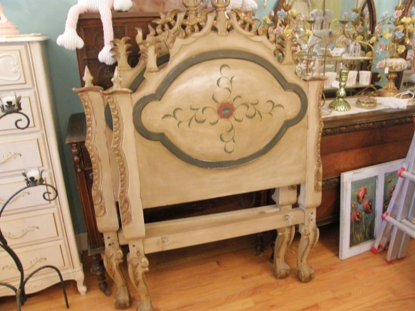 Antique Chic Shabby Daybed Twin Headboard Pair Distressed