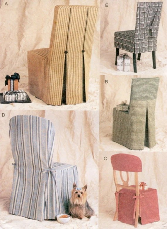 CHAIR COVER Sewing Pattern 5 Vogue Seat Covers OOP