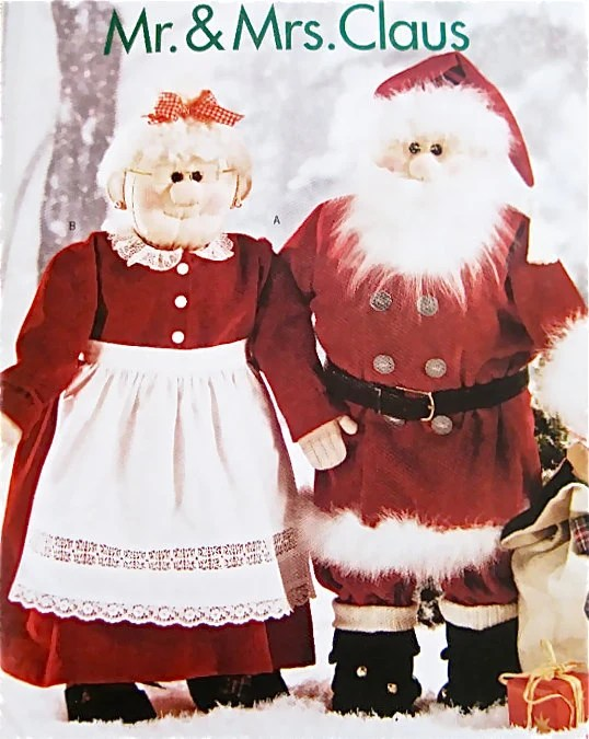 Mrs Doll Mr Claus Pattern Santa And