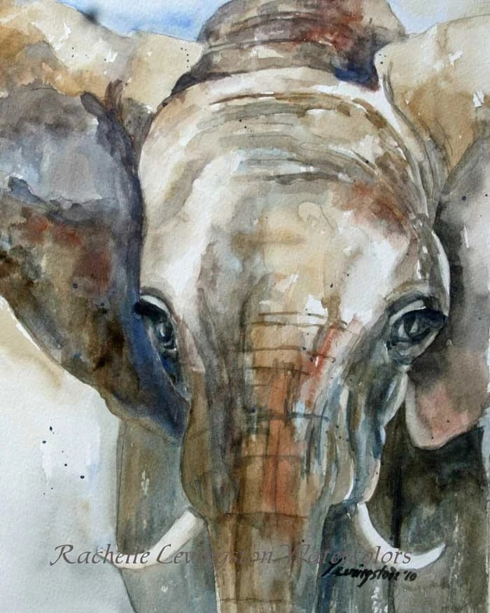 Animal Print Wallpaper For Bedrooms Elephant Fine Art Print From Watercolor By Rachellelevingston