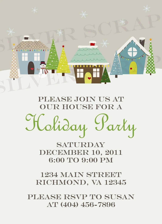 christmas printable invitations