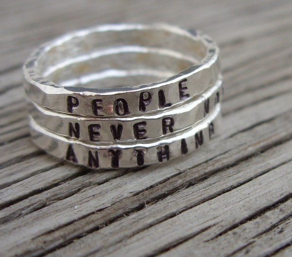 Personalized Stackable Stacking Rings Hand Stamped
