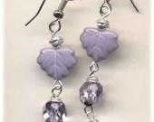 New Line Lavender Leaf Earrings SALE - Annaart72