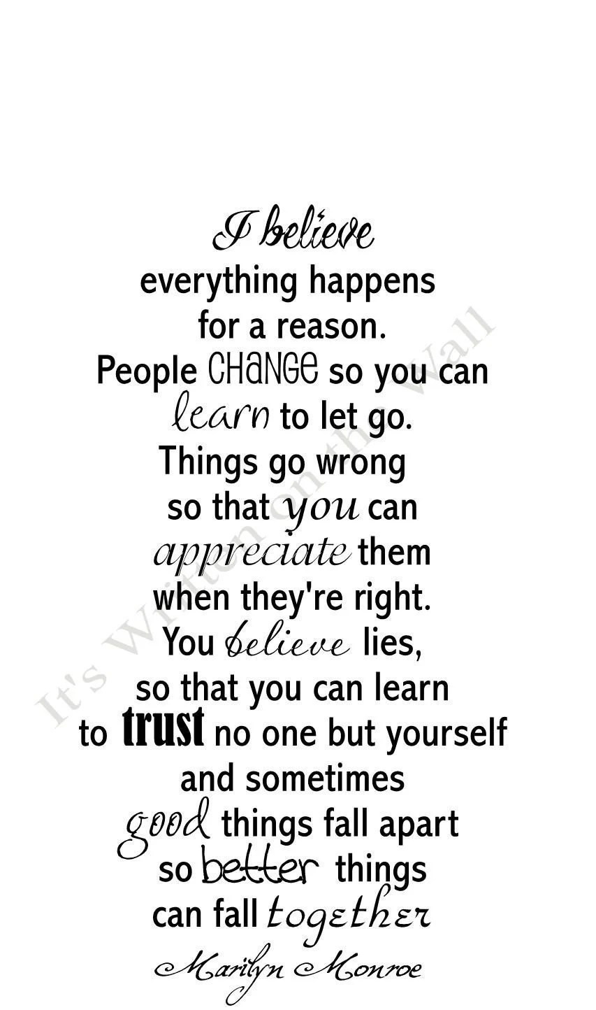 Marilyn Monroe Quote I Believe Everything by