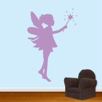 Pixie Fairy Wall Decal Girls Room Decal DB235