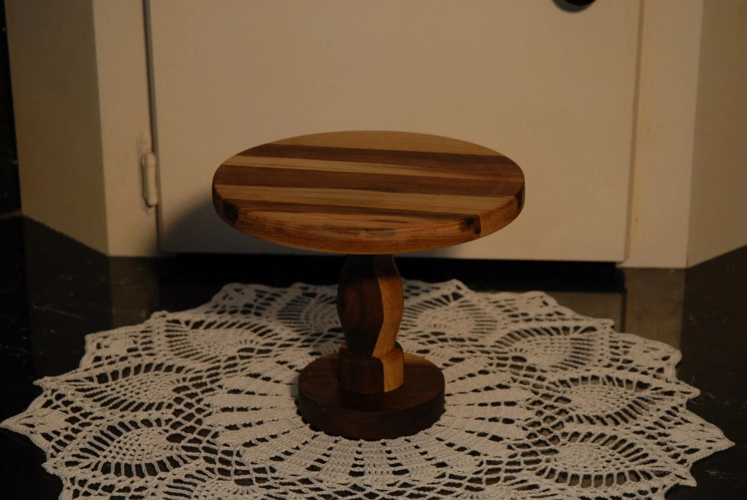 Cupcake Pedestal Small Cake Stand Wooden Display