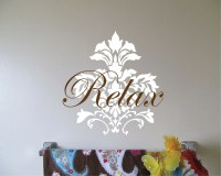 Items similar to Fleur de Lis Wall Decal - Spa Bath Decal ...