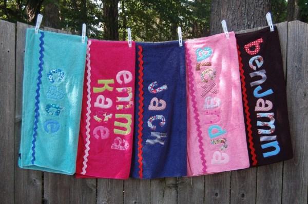 Three Personalized Custom Towels