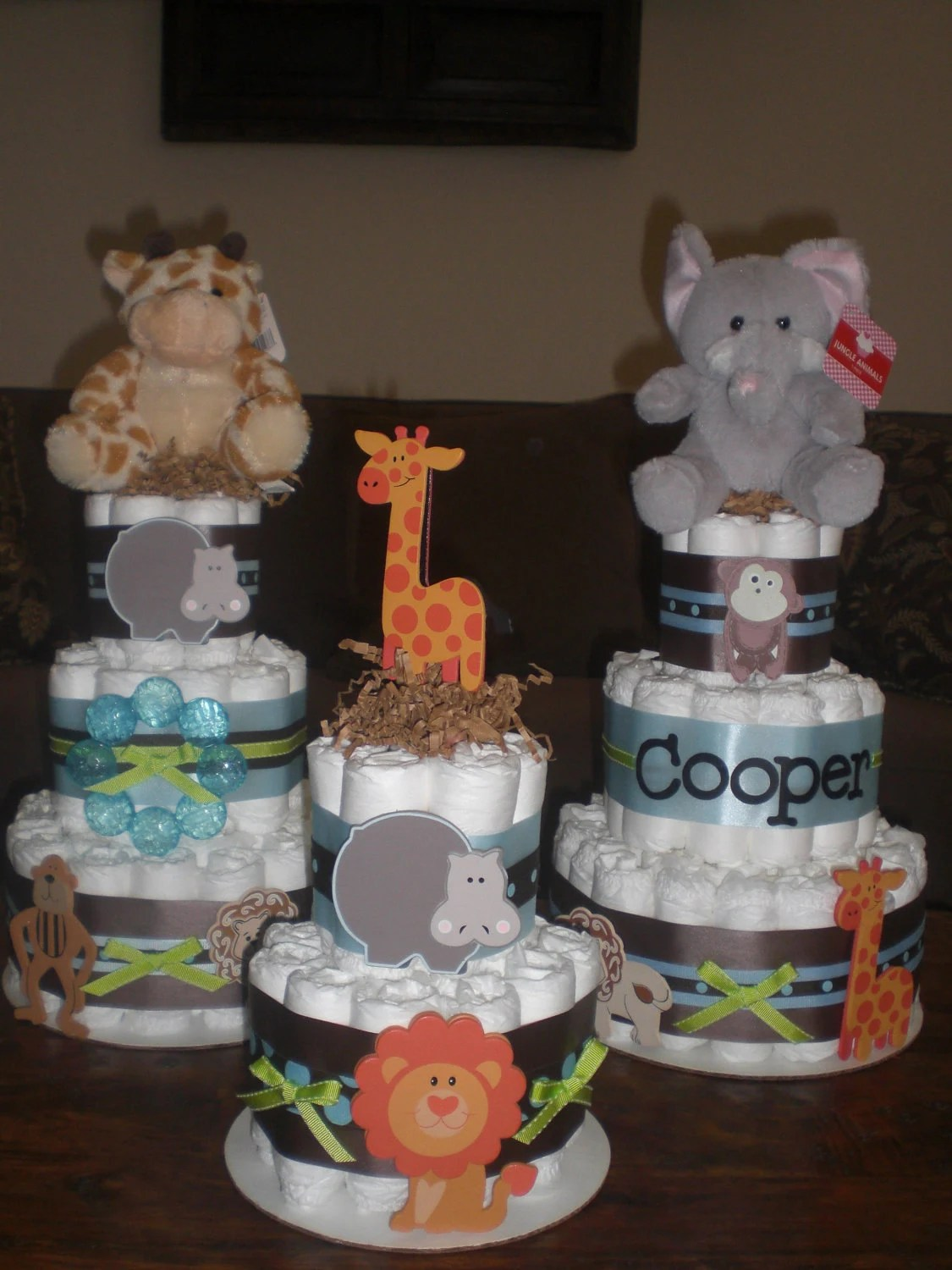 Betsy Order Only Safari Jungle Theme By Bearbottomdiapercakes