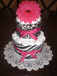 Items similar to Zebra and Leopard Hot Pink Baby Shower ...