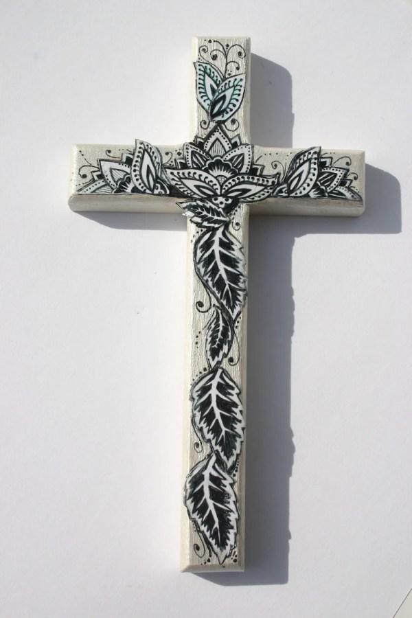 Decorative Wood Cross 8 Tall Wall Art