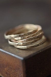 Hammered Gold Stacking Rings as seen in ELLE and LUCKY