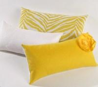 Yellow Zebra Print Lumbar Pillow by MiCasaBella on Etsy