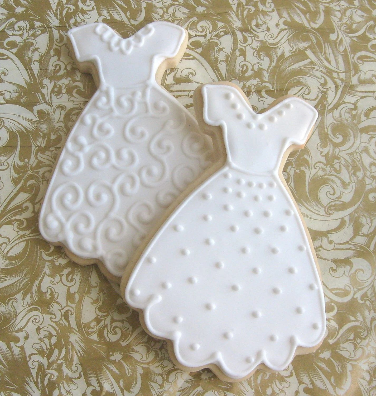 Reserved for AmyWedding Dress Cookies Decorated Wedding