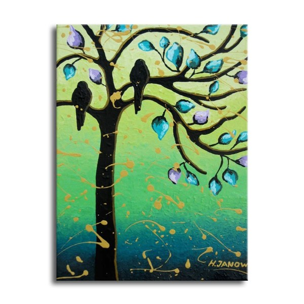 Bird Paintings Whimsical Tree Of Life Art