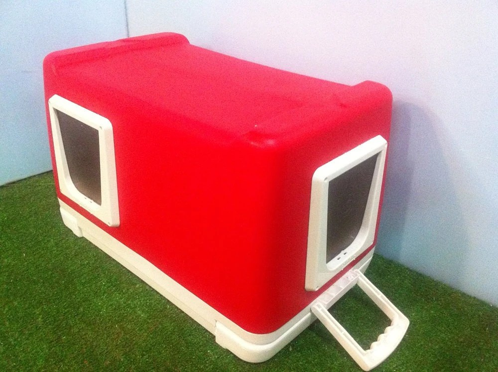 Cat Pod 2 Doors Outdoor Cat House Shelter Bed Condo By Stabob