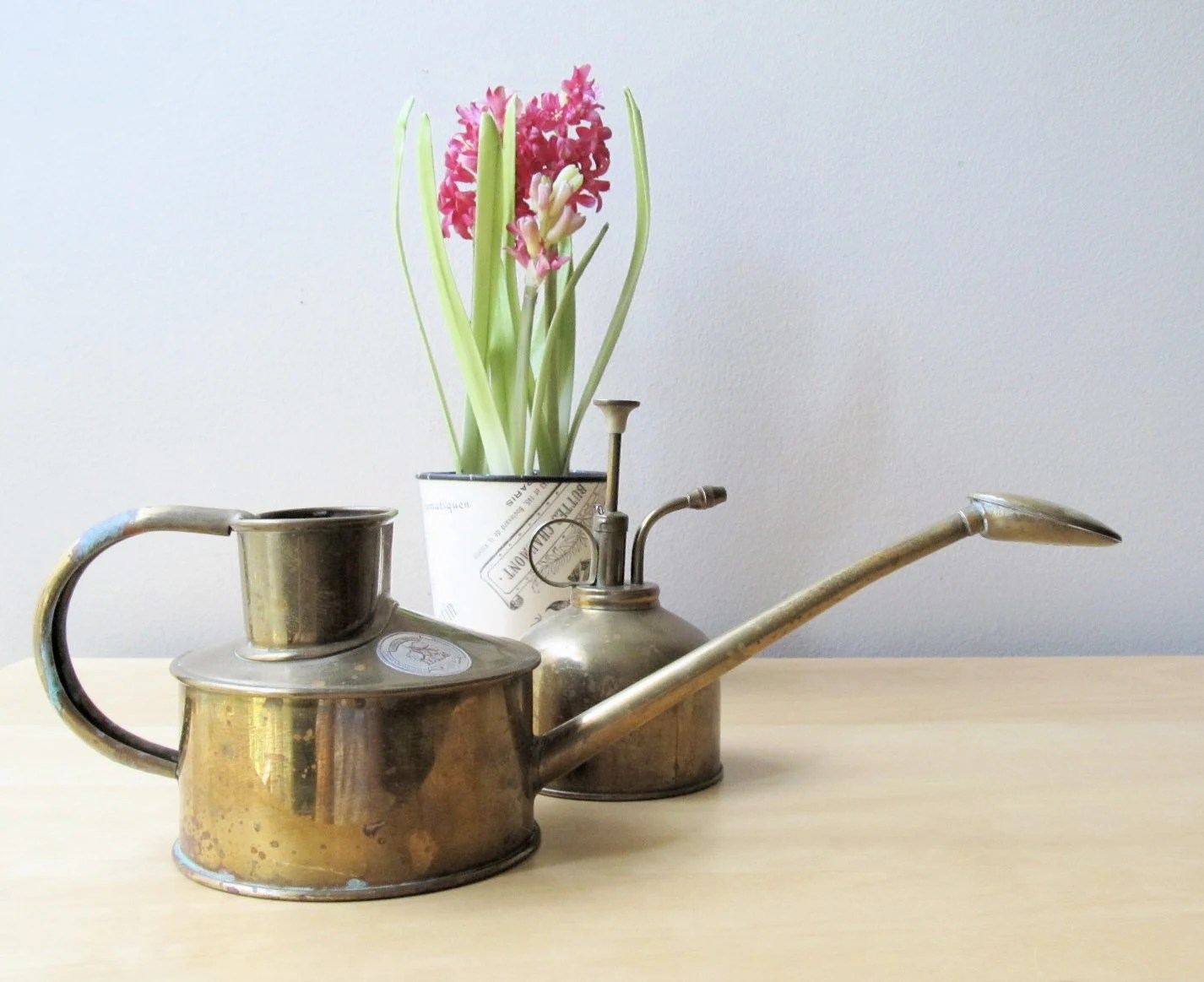 english brass watering can brass plant mister haws centenary