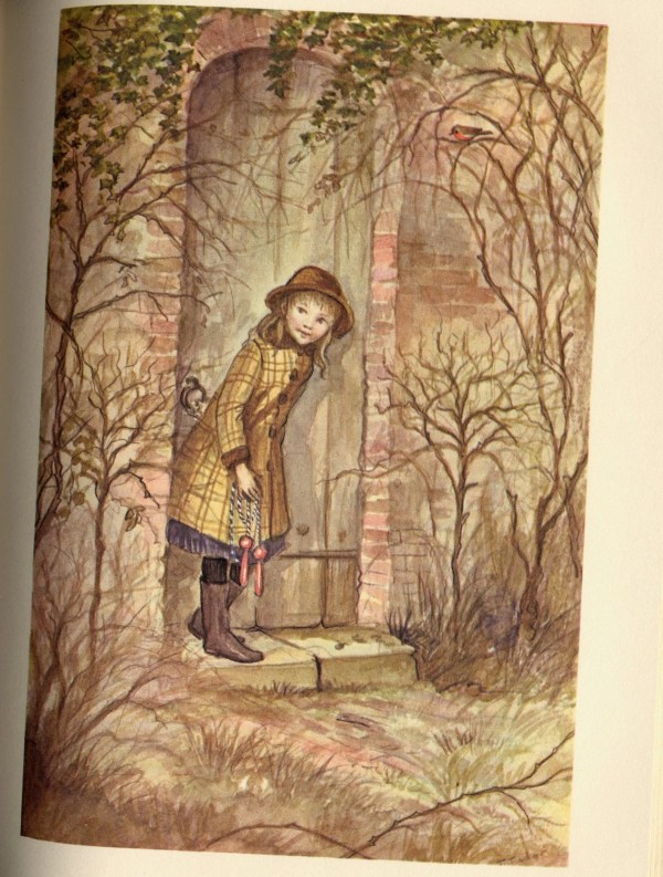 Vintage Child' Book Secret Garden With Illustrations