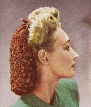 vintage crochet pattern 1940s snood