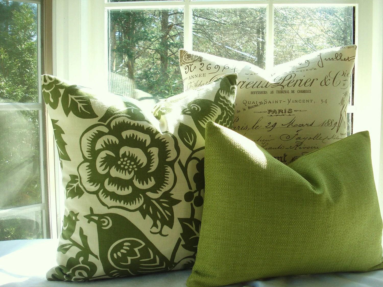 moss studio sofa reviews grey fabric 2 seater bed 20x20 bird design designer decorative pillowgreen throw