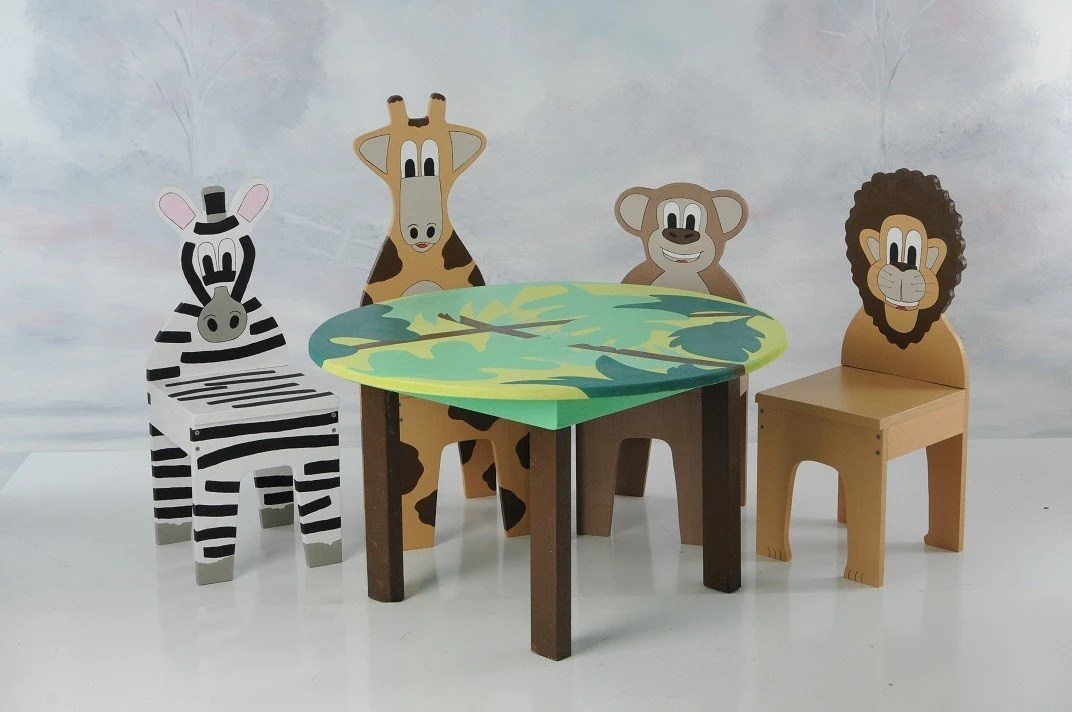 childrens table and chairs knoll generation task chair new ichart kids set with 4 animal