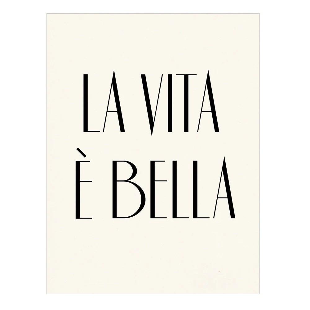 La vita è bella Italian Poster Print Life is by nutmegaroo