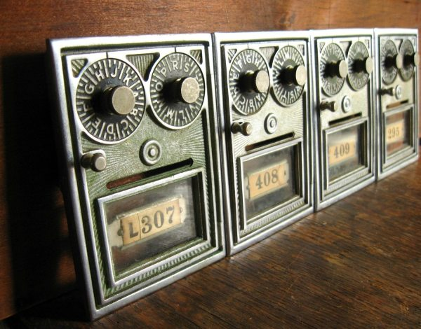Vintage Post Office Mailbox Doors