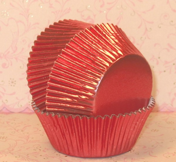 Pink Foil Cupcake Liners 45 Pink Foil Baking Cups Pink